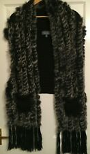 Reduced - Anne Mora Gilet in knitted wool with fur (size 20 but should be 16)