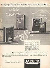 vintage 1955 print ad JAEGER- LE COULTRE Swiss watch movement MID CENTURY ART