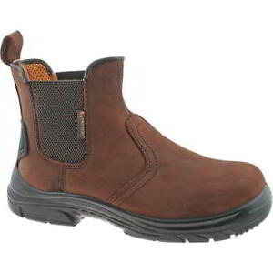 Mens Slip On Extra Wide Fit Safety Toe Cap Chelsea Dealer Work Boots Size 7-14