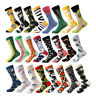 Men Cotton Socks Animal Bird Shark Zebra Corn Sea Food Novelty Funny Dress Socks