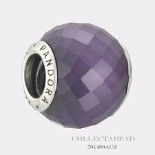 Authentic Pandora Sterling Silver Purple CZ Petite Facets Bead 791499ACZ