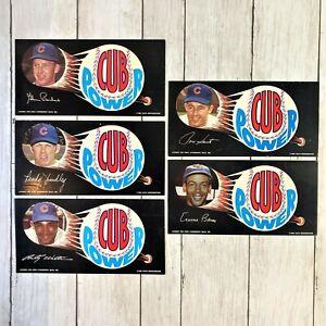 1969 Dunkin Donuts Chicago Cubs Bumper Sticker Lot Ernie Banks Santo Williams