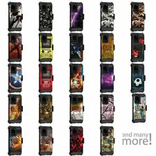 For Samsung Galaxy S20 ULTRA (6.9) Triple Layer Holster Belt Clip Case