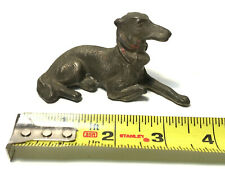 Vintage Metal Brass? Dog figurine German Pointer Hunting Dog? Great Detail NICE!