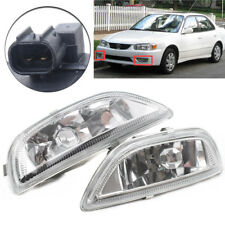 Pair Clear Lens Front Driving Lamp Fog Lights For Toyota Corolla 2001-2002