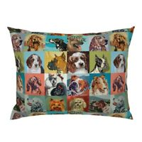 Paint Number Dogs Dachshund Bulldog Boston Terrier Pillow Sham by Roostery