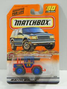 1999 Mercedes-Benz Trac 1600 Turbo #90 Blue/red Matchbox 36298 Farm series 18