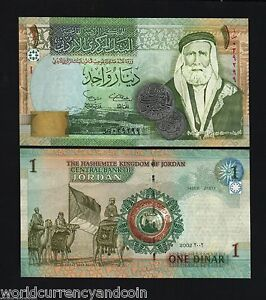 JORDAN 1 DINAR P-34 2002 x 100 Pcs Lot BUNDLE CAMEL KING UNC ARAB CURRENCY NOTE