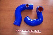 Coppia tubi Manicotti silicone blu intercooler Lancia Delta Integrale 8v 4wd Evo