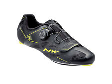 Road Shoes Northwave mod. 'Sonic 2 Plus', col Black/Yellow Fluo, size UK 9,5,New