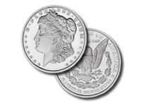 1 - 1 oz. 999 Fine Silver Round - Morgan Dollar Design - Brilliant Uncirculated
