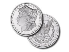 2 - 1 oz. 999 Fine Silver Rounds - Morgan Dollar Design - Brilliant Uncirculated