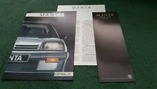 1986 1987 OPEL MANTA inc GSi 7/86 GERMAN BROCHURE + SPECIFICATION + PRICES - GTE