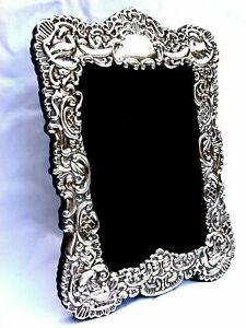 Fabulous Large Finest Quality 999 Hallmarked Silver London Britannia Photo Frame