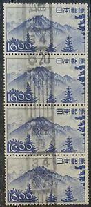 JAPAN. 1948 19y USED STRIP OF 4 ..CAT £26