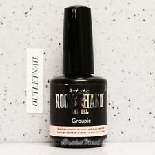 Artistic Nail Design Rock Hard LED Gel - GROUPIE #02206 Brush-On Natural Pink