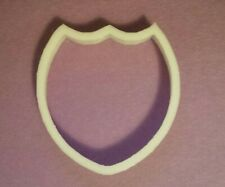 shield shape 3d printed plastic cookie cutter 5 inch tall and 5 inch wide large