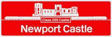 Large GWR Class 255 HST 125 Newport Castle Nameplate Sticker 200mm Wide