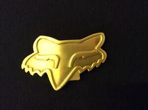 FOX HEAD GOLD BELT BUCKLE