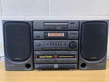 aiwa stereo system NSX-220K vintage Retro Tuner Double Cassette Deck CD AUX