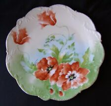 """LARGE ANTIQUE LIMOGES L. FRERES OLD ABBEY CHARGER PLATE - SIGNED - 12"""" D"""