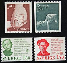 Timbre SUÈDE / Stamp SWEDEN Yvert et Tellier n°1085-1086-1088-1089 n** (cyn9)