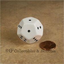 NEW Spotted D4 12 Sided 1 to 4 x3 White Die D&D RPG Game Dice 28mm Koplow