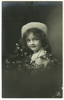 c 1910 Vintage ADORABLE LITTLE GIRL antique photo postcard