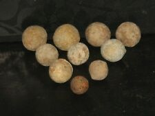 1640s ~ excellent 10 x Charles I English Civil War musket balls (Arundel Castle)