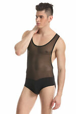 Body débardeur noir taille M transparence sheer plum sexy Ref 328 combinaison