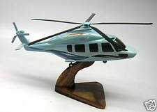 EC-175 Eurocopter Helicopter Mahogany Kiln Dry Wood Model Large New