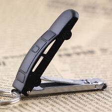 2pcs Creative Black Car Nail Clippers Key Chain Ring Keychain Key Fob Keyring
