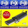 FOX ENDSCHALLDÄMPFER Opel Astra G Coupe/Cabrio CC 135x80 1.6 1.8 2.2 2.2DTI