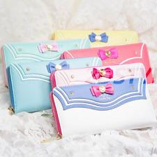Women Cosplay Anime Wallet 20th Anniversary Cute Long Purse Sailor Moon Bag