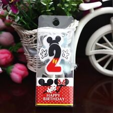 """Mickey Mouse Second Birthday Candle / Keepsake Topper  1-1/2""""X1-1/2"""" USA Seller"""