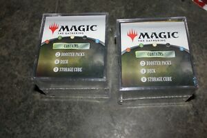 NEW (Lot of 2) MTG Magic The Gathering Cube Each has 2 Booster Packs/Deck