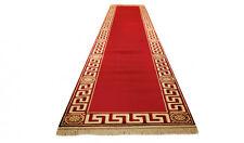 Teppich Läufer Rot Kunst Seide Mäander Medusa Möbel Carpet 67 x 400 cm versac