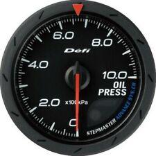 DEFI Advance CR Black 60mm Oil Pressure Gauge (Metric)