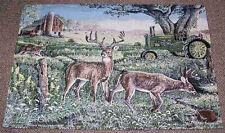 John Deere American Farm w/Deer Tapestry Wall Hanging