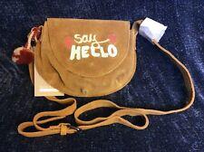 "Zara Girls Accessories Leather  ""Say Hello"" Embroidered Handbag NWT"