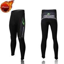 Merida Winter Cycling Tights Padded Men's Thermal Biking Fleece Pants Green Fire