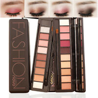 10 Color NOVO Fashion Make Up Light Eye Shadow Shimmer Matte Eyeshadow Palette^