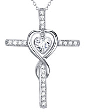 Christmas Sterling Silver Cross Infinity Love Hearts Jewelry Gifts for Women