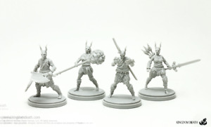 4 x SCREAMING ARMOR KIT - KINGDOM DEATH MONSTER miniature rpg jdr