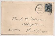 COVER PROCTOR VERMONT USA ETATS UNIS TO SWEDEN. 1908. L358