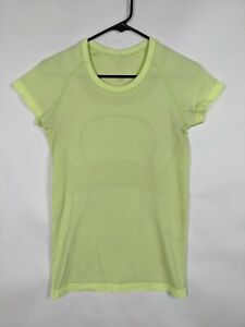 Lululemon Women's Neon Yellow Short sleeve swiftly tech top Size 6