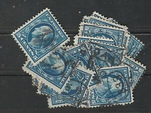 USA Scott #  378 Washington 5 Cent Perf 12 SLW  Used lot of 23 stamps (378-23)