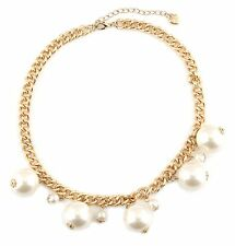 Zest Pearl Drop Choker Golden Chunky Necklace