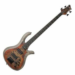 Schecter Riot-4  SARB Electric Bass - Inferno Burst Swamp Ash Body, Burl Top