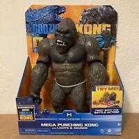 "Monstervers Godzilla Vs Kong 13"" Mega Punching Kong Lights Sounds Playmates NEW"